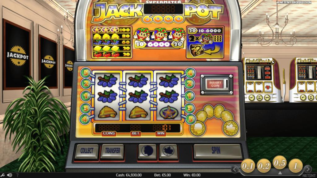 Jackpot 6000 - En klassisk spilleautomat fra NetEnt